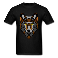 2018 Fashion Wolf T Shirt For Male Cool Adult Custom Cartoon Tees Men S Top Cotton