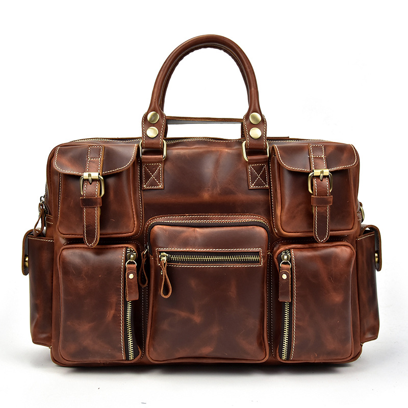 Free Shipping,Brand Mens Oil Vintage Cowhide Handbag.top Genuine Leather Business Briefcase,quality Travel Bag.laptop Bag