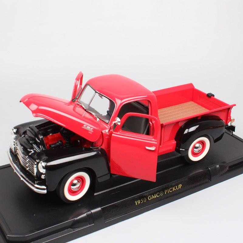 1/18 Grande Échelle Route Signature vieux millésime 1950 GMC Pick up camions van auto moulé sous pression véhicules modèles de voiture jouets pour adulte collecteur