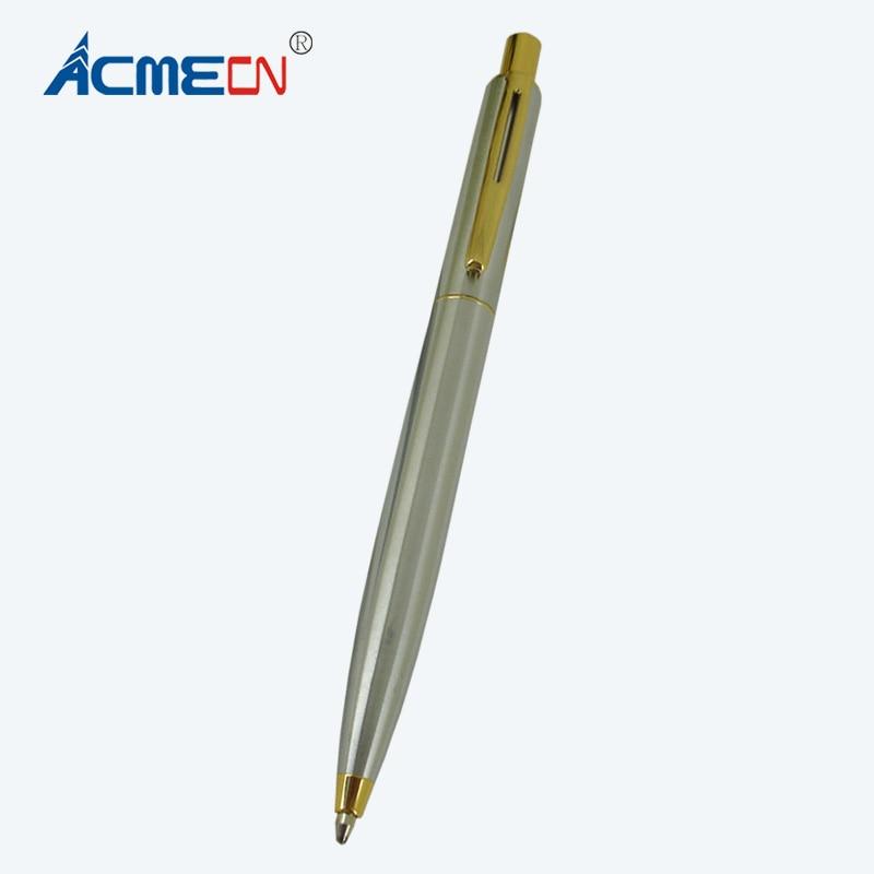 Hardwerkend Acmecn Hot Koop Push Klik Balpen Metalen Roestvrij Staal Plating Goud Trim Druk Balpen 1.0mm Schrijven Punt Geschenken Pen