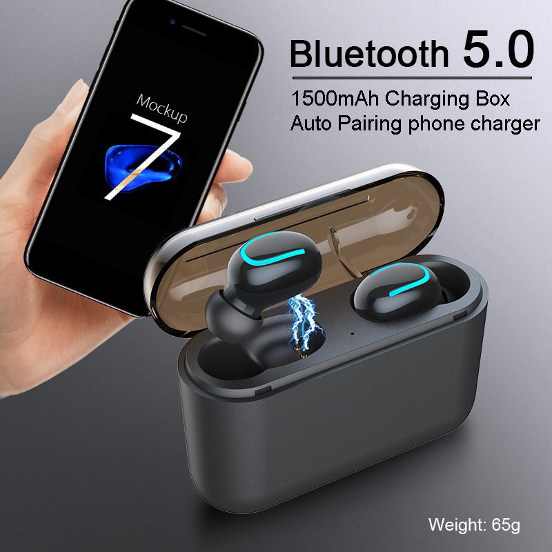 TWS High Quality Bluetooth Earphone Sports Wireless Handsfree Gaming Earbuds Noise Canceling Earphones