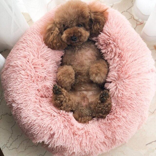 GLORIOUS KEK Base Del Cane di Lusso di Inverno Sonno Profondo Ciambella Pet Lett