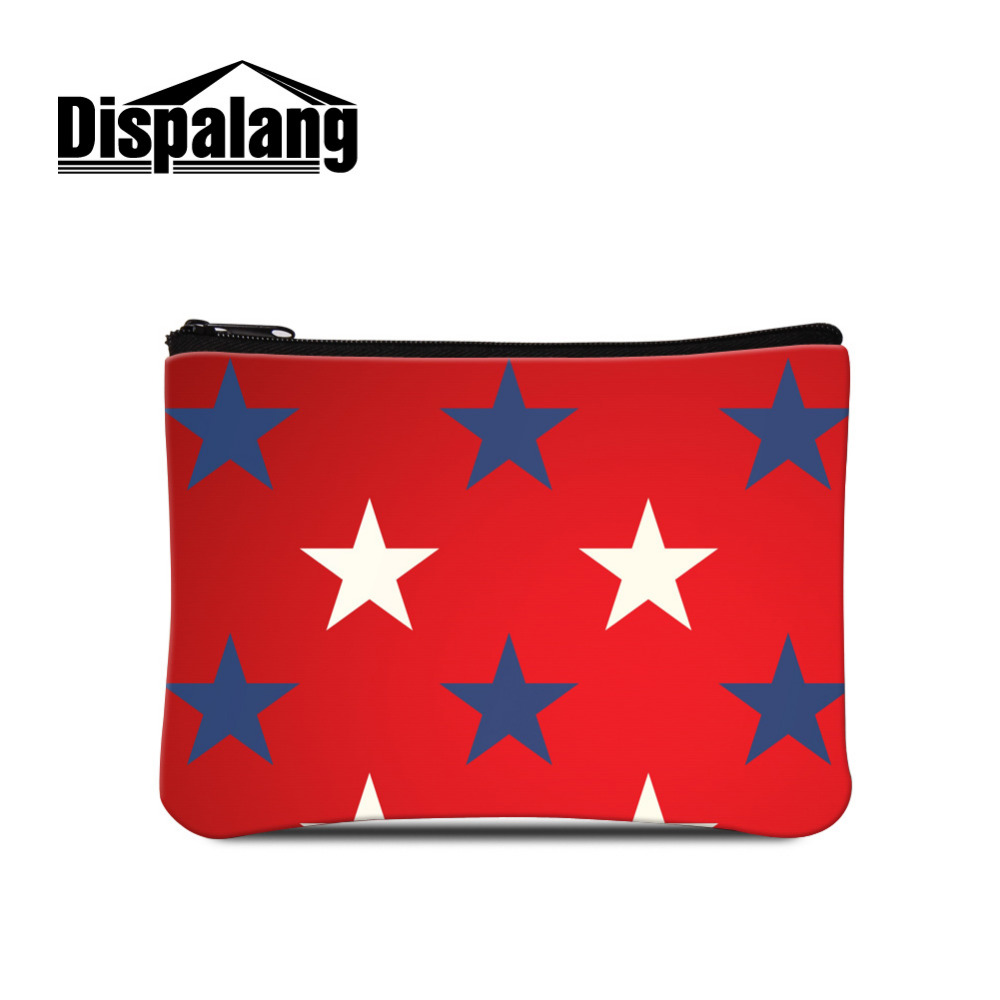 Dispalang Women Wallet Star Geometric Print Kids Purses Coin Purse Female Small Wallet Lady Purse For Girls Money Bag