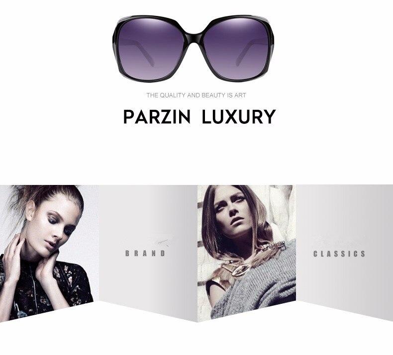 Click here!! Parzin Polarized Sunglasses Women Fashion Oversized Female Sun  Glasses For Driving Oculos De Sol Feminino With Case 9501 c3805f393f
