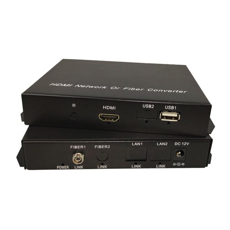 HDMI KVM convertisseur fibre optique HDMI USB souris et clavier KVM Extender fibre monomode 20KM - 2