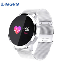 Diggro Q8 OLED Bluetooth Smart Watch Stainless Steel Waterproof Wearable Device Smartwatch Wristwatch Men Women Fitness Tracker