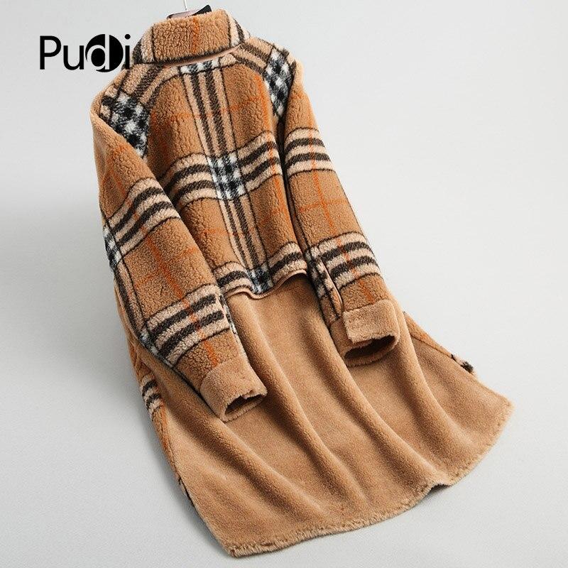 D'hiver Laine Pudi Long Femmes Fourrure Veste Réel Chaud A18192 Dame Pardessus De Manteau ttqfX