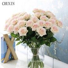 25 teile/los Neue Künstliche Blumen Rose Pfingstrose Blume Hause Dekoration Hochzeit Braut Bouquet Blume Hohe Qualität 9 Farben