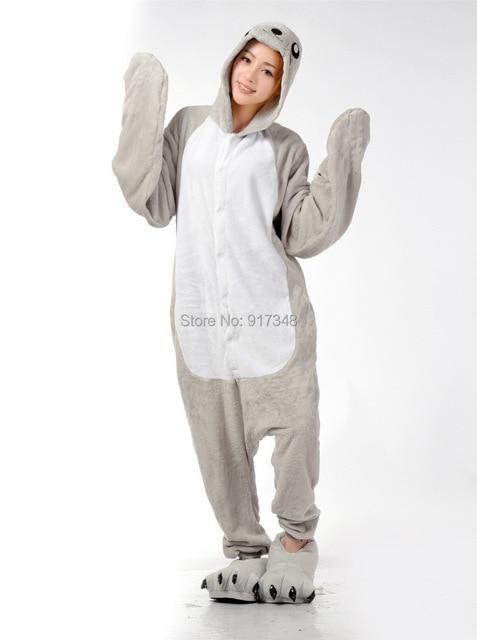 Морской лев морской собака животных Костюм (не включает тапочки) косплэй Kigurumi  Onesie пижамы комбинезон 5b5b734b1a22f