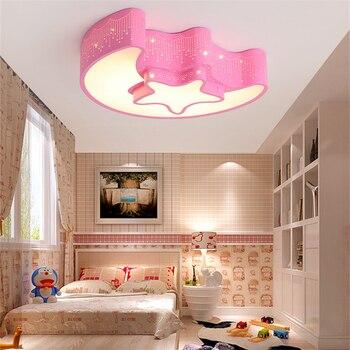 Creative ירח סגנון Led תקרת מנורת עיניים הגנת אנרגיה חיסכון מנורת תקרה מצוירת לילדי גן של שינה