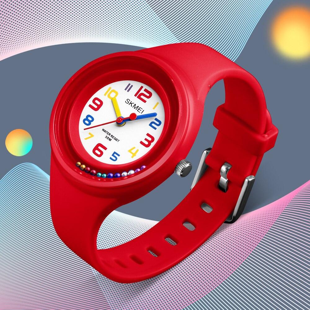 SKMEI Top Brand Kids Children Fashion Watches Quartz Analog PU Jelly Wrist Watch Children Boys Kids Girls Waterproof Clocks