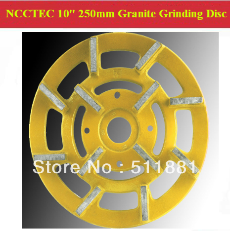 [1st step] 10'' Metal Bond Diamond Granite Grinding Disc | 250mm granite abrasive wheels plate | 12 segments iron base grit 50#