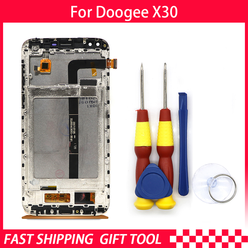 New Original For DOOGEE X30 Touch Screen LCD Display With Frame Digitizer Assembly Replacement Parts+Tool