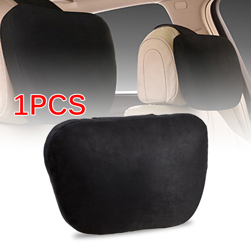 1pc Car Headrest Neck Pillows Seat Cushion Suede For Mercedes Benz W204 W203 Maybach Design S Class Seat Cushion