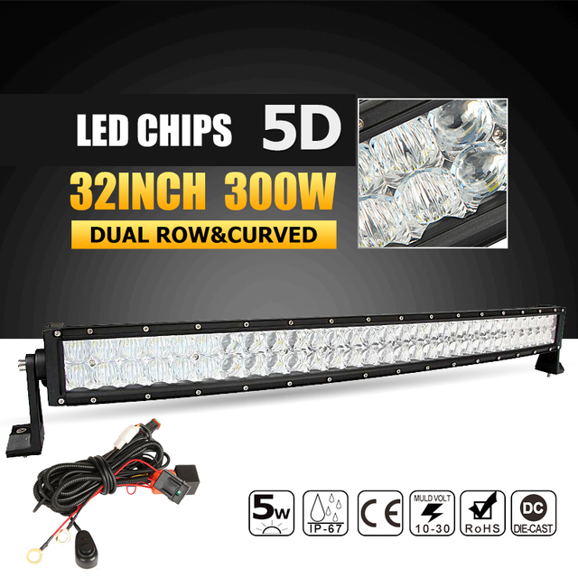 Oslamp 5d 32inch 300w curved led light bar offroad led work light oslamp 5d 32inch 300w curved led light bar offroad led work light bar combo beam led mozeypictures