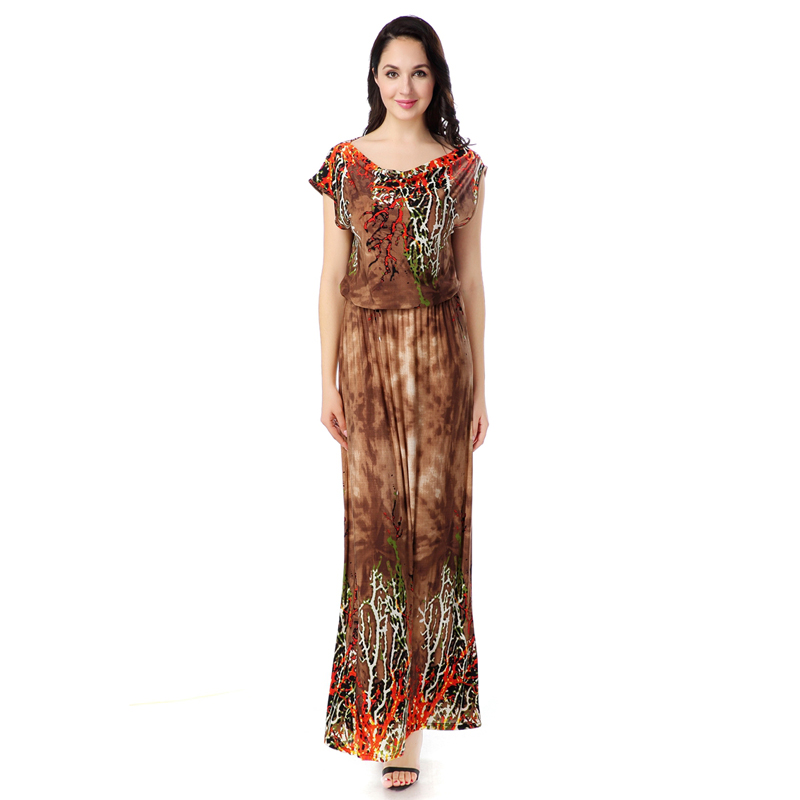 Buy Cheap 2017 Women Summer Beach Dress Bohemian Plus Size 6XL Long Maxi Dress