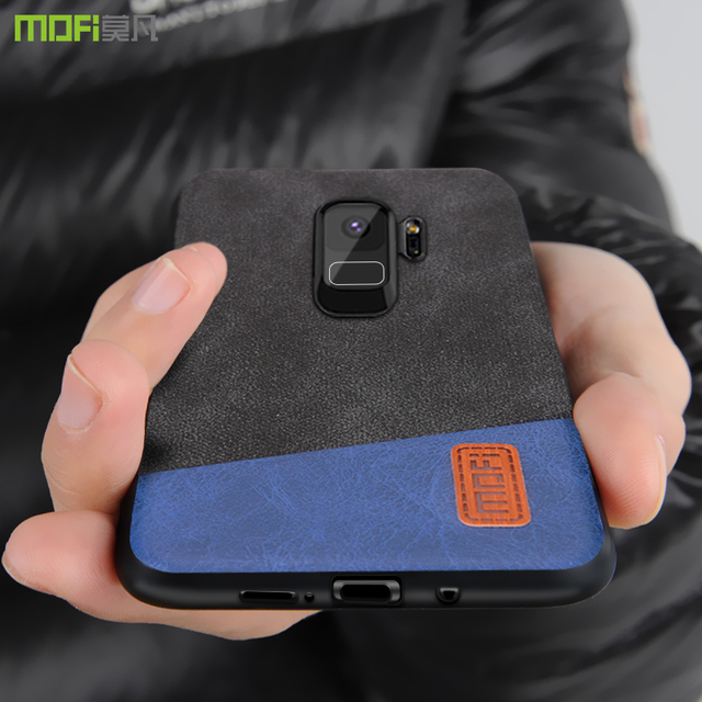 new concept 0aa79 791d9 US $8.69 13% OFF|for Samsung S9 Plus Case Cover MOFI for Samsung Galaxy S9  S9Plus Hard Back Cover Case S9 S9+ Soft Silicone luxury Leather Case-in ...