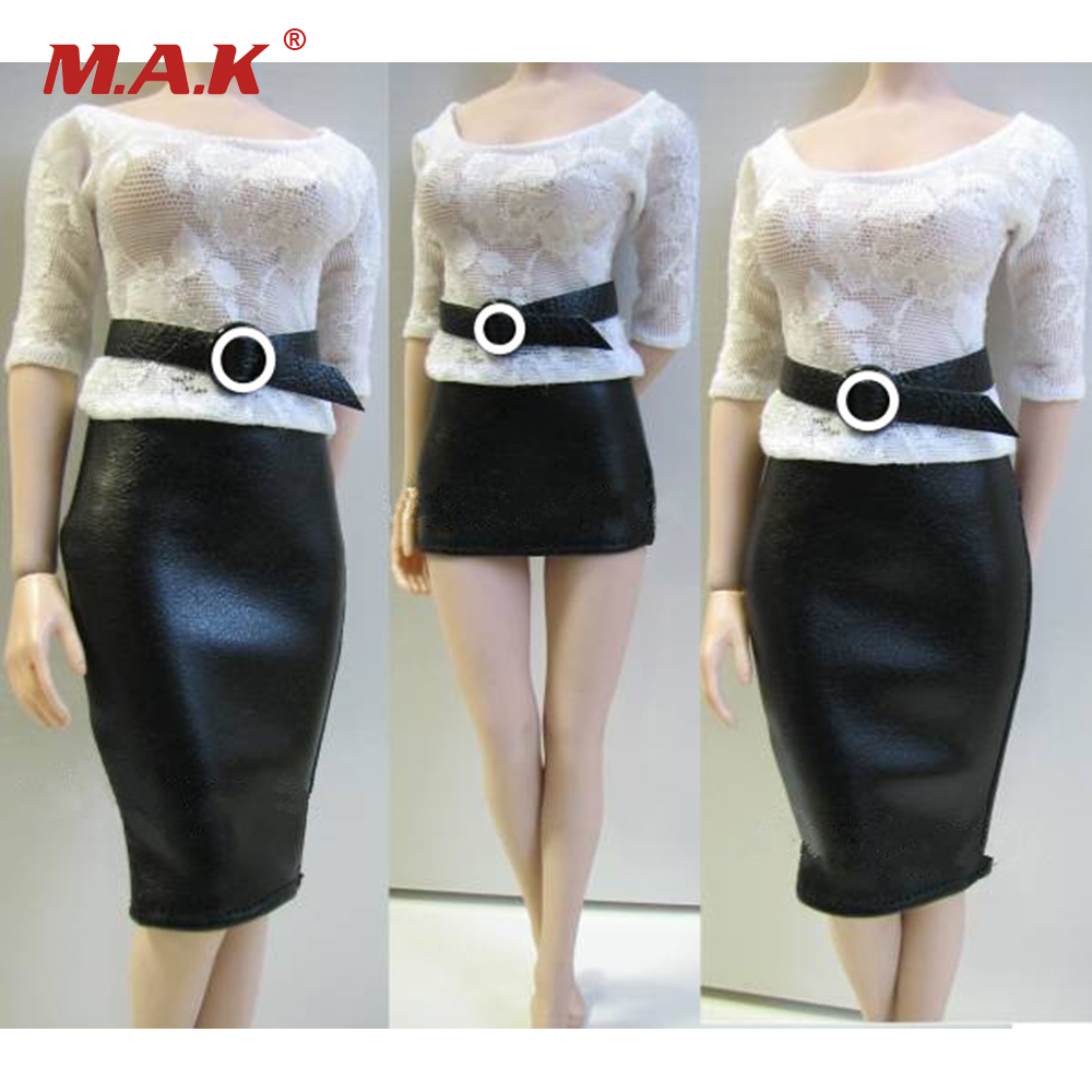 Customized 1/6 Female Action Figures Clothes Shirt Leather Skirt and Belt For 12 Inches Bodies Figures Accessories 1 6 scale womens japanese kimono clothes models for 12 inches female action figures bodies dolls accessories kimono belt and soc