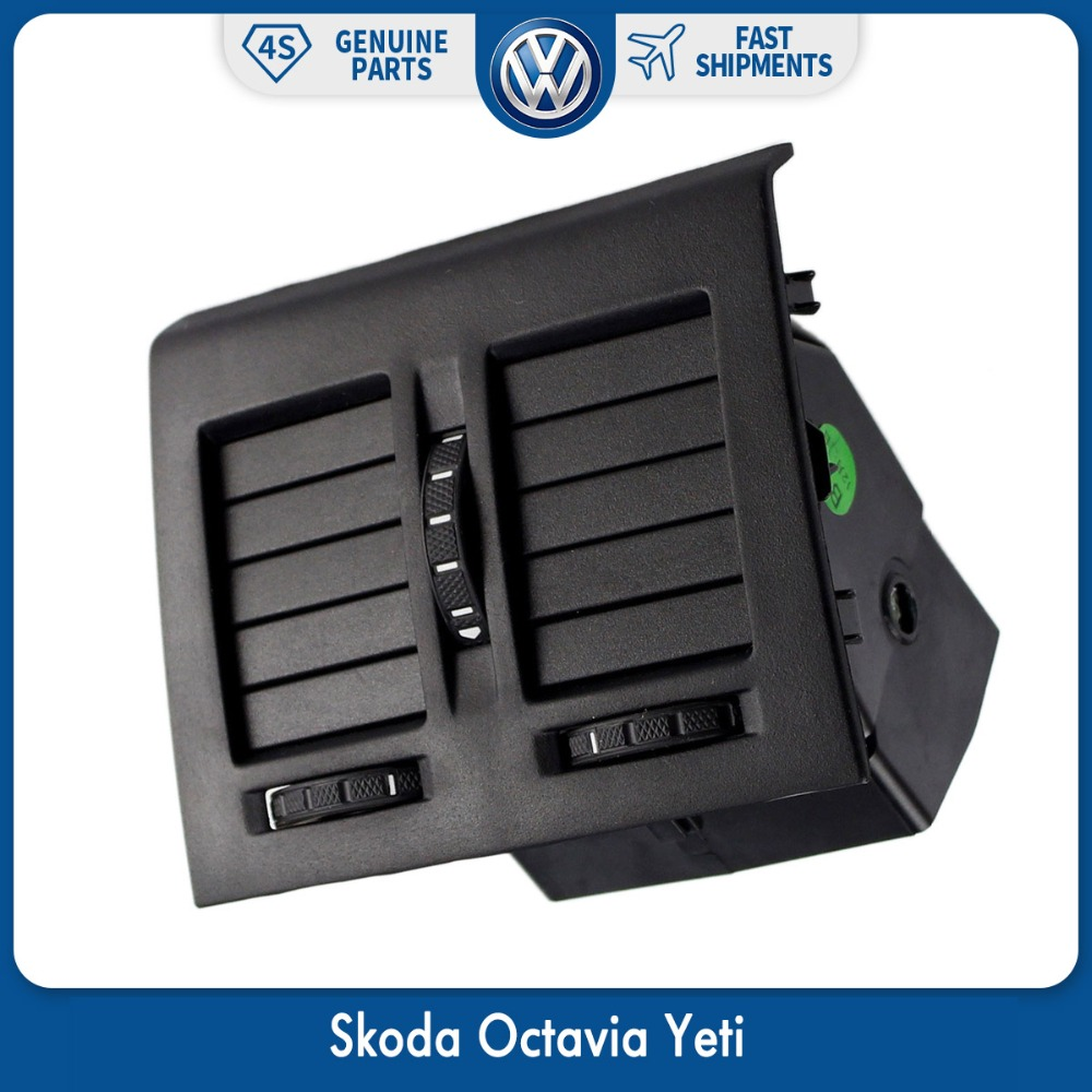 OEM Console Heater Center Rear Air Condition AC Outlet Vent for VW Volkswagen Skoda Octavia Yeti 1ZD 819 203 a style new car black center console rear ac air conditioning outlet vent for vw touran caddy 2003 2015 1t0 819 203 a 1td819203a