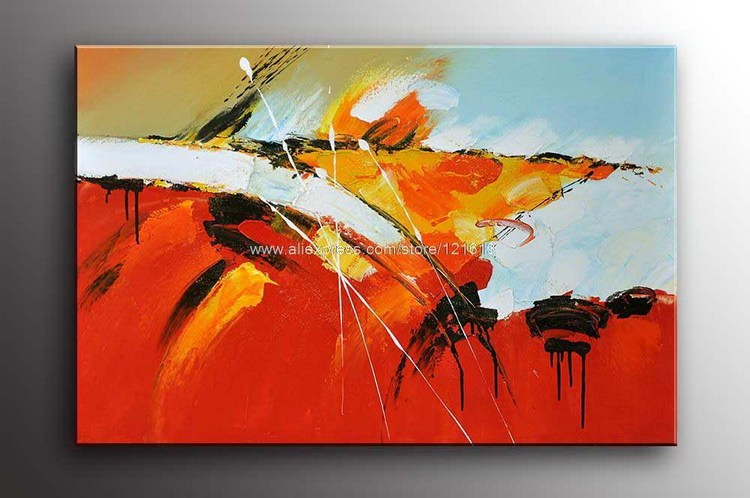 Hand Painted Gift Abstract Modern Art Palette Knife Oil ...