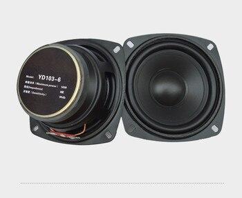 2PCS 4inch 50w 8ohm 90DB full range speaker loudspeaker Subwoofer for Car computer amplifier speaker  subwoofer