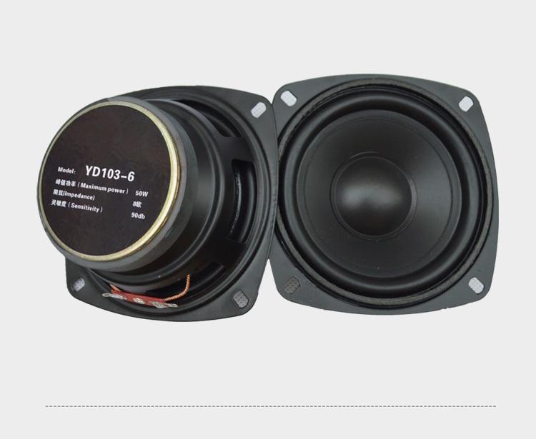 2pcs 4inch 50w 8ohm 90DB Full range speaker loudspeaker Subwoofer for Car computer amplifier speaker