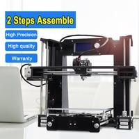 2 parts Fast assembly Pursa I3 High precision industrial grade impresora 3d printer A6 Assembled FDM Technology big LCD display