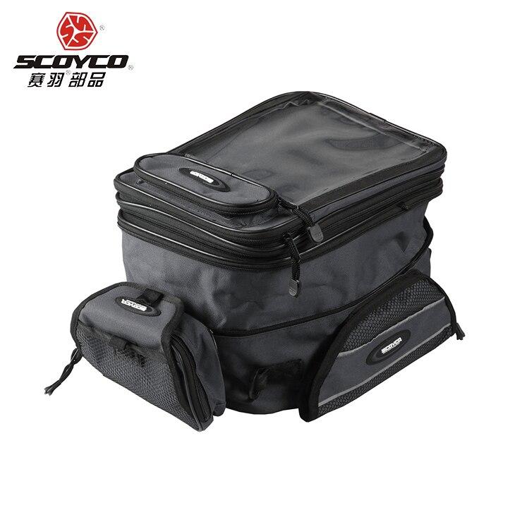 SCOYCO 100 Original universal Motorcycle motorcross oil tank bag waterproof luggage bag motorbike magnetic bag fuel