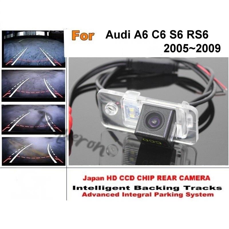 Интеллектуальная парковочная камера для Audi A6/C6/S6/RS6 2005 ~ 2009, динамическая камера заднего вида, CCD ночное видение