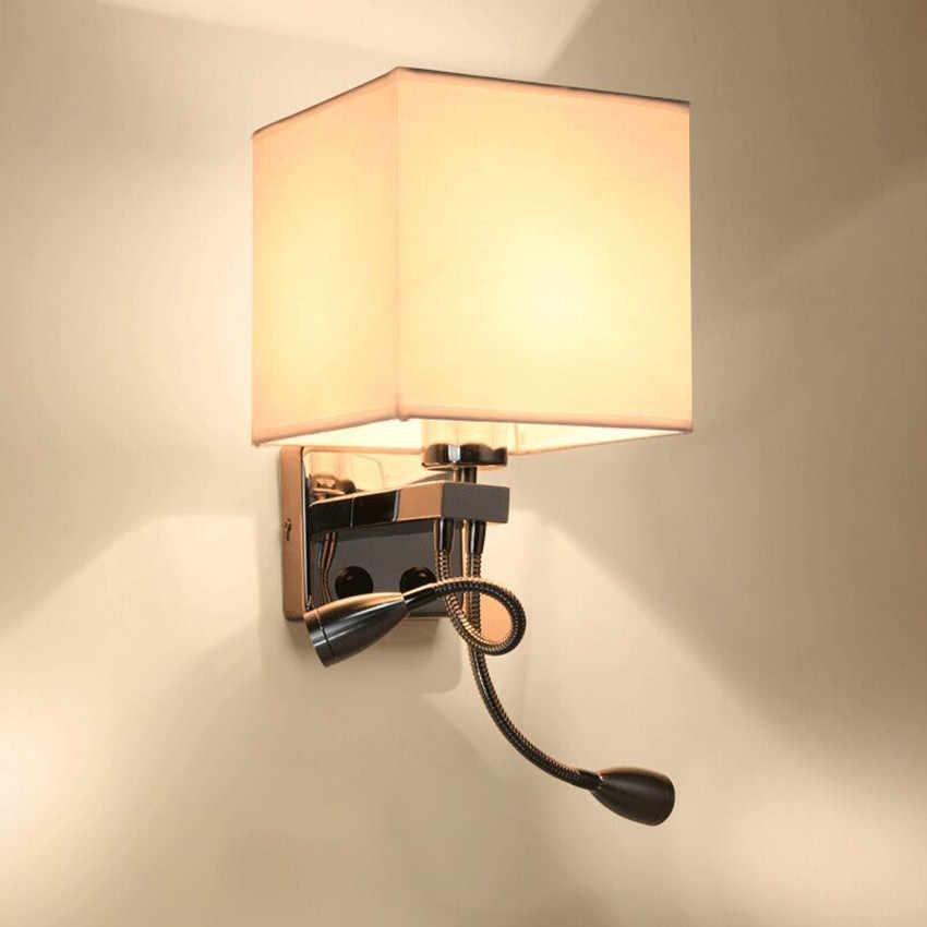 Светодиодный прикроватный настенный светильник с переключателем гибкий светильник для чтения изголовье лампы для лестницы гостиной спальни прохода балкона BL702