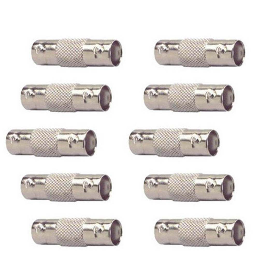 10PCS Q9 BNC Female To Female Inline Coupler Coax Connector Extender For CCTV Camera Surveillance System Security Video