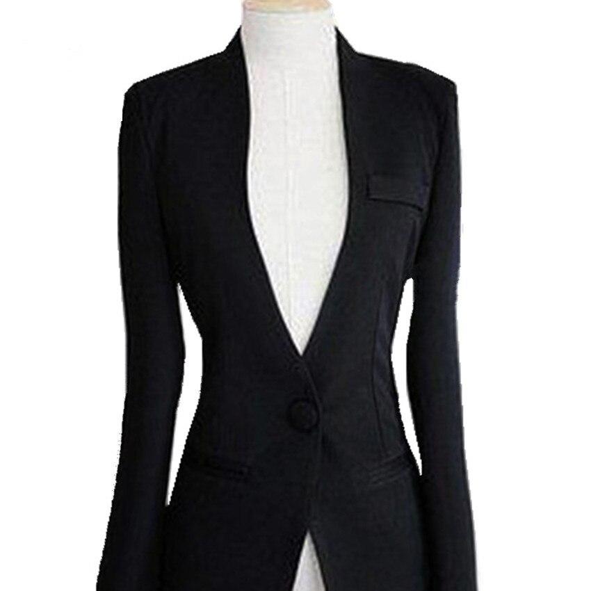 2019 Spring Ladies Blazers White Full Sleeve Female Slim Single Button Blazer Jacket Femme Blazer Jacket Ow0249