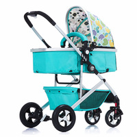 European high profile baby carriage two way push baby stroller light folding can be lying two use baby carts