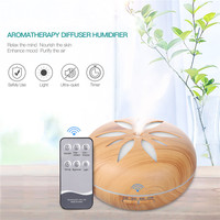 550ml Electric Ultrasonic Humidifier Air Purifier 7 Color LED Lights Essential Oil Aroma Diffuser With Remote
