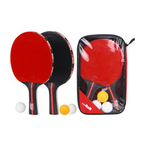 High Quality Professional Table Tennis Racket With 3 Ping Pong Balls Portable Bag Packed Rackets Set Long Short Handle