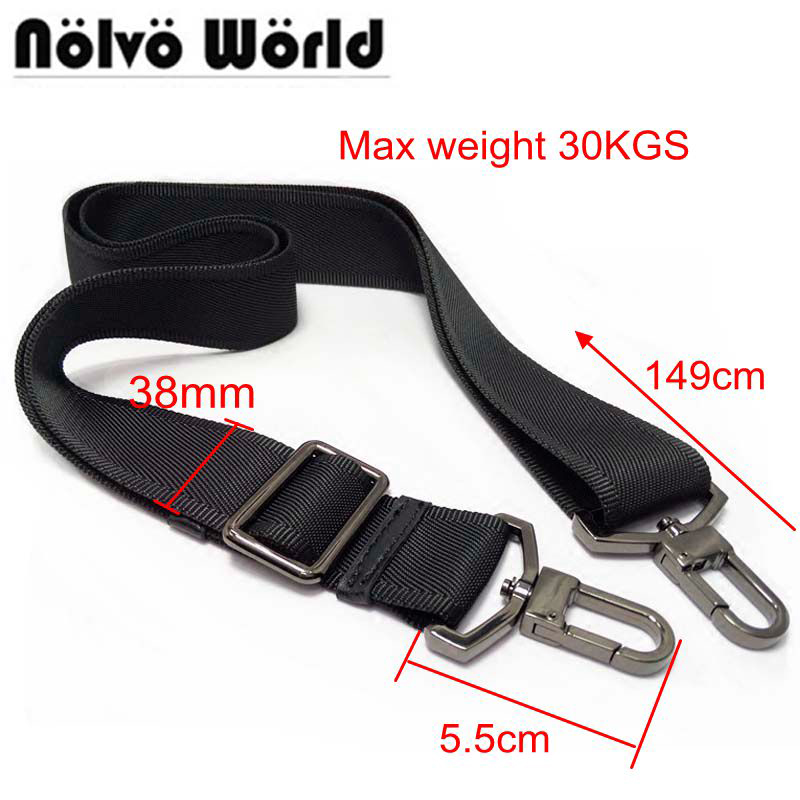 38mm max 30KGS strong hook nylon belt accessory,men bags long shoulder strap,man briefcase bag straps,repair bag shoulder strap hoyobish black nylon bag strap for men bags strong shoulder strap men briefcase laptop bag belt length 150cm bag accessory oh201