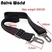 38 мм Макс 30KGS Сильный крючок нейлон ремень аксессуар, мужские сумки длинный наплечный ремень, человек портфель сумка ремни, ремонт мешок плечевой ремень