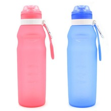 400/600ml Silicone Folding Water Bottle Outdoor Sports Supplies Portable Convenient Camping Travel Bicycle