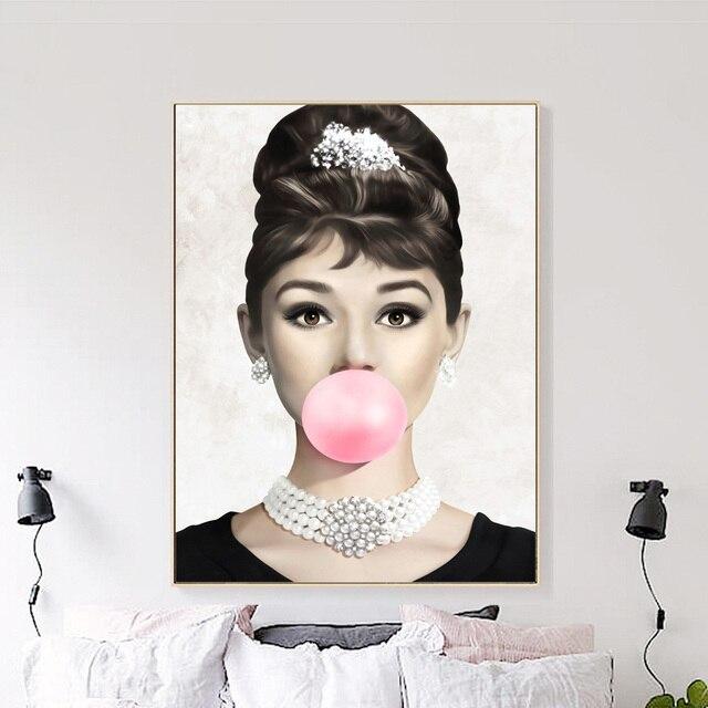 Toile dart murale bulle Sexy pour fille | Femme, fille, peinture nordique, affiches et imprimés muraux, images murales pour décor de salon
