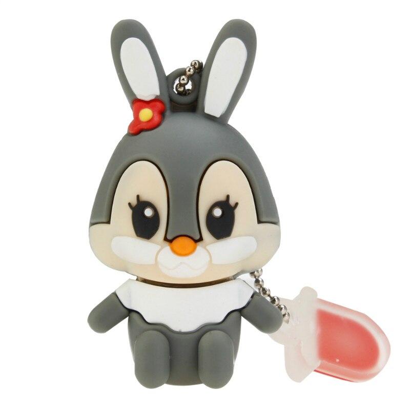 Image 4 - Usb Flash Drive Cute Cartoon Rabbit Pen Drive 4GB 8GB 16GB 32GB Flash Memory Stick High Speed Pendrive 64GB 128GB Thumbdrives-in USB Flash Drives from Computer & Office