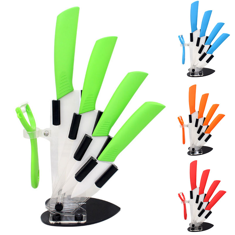 6 Color Kitchen Knife Set With Peeler Zirconia Ceramic 3