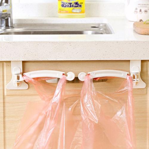 Hanging Trash Garbage Rubbish Bin Kitchen Carrier Plastic Bag Hanger Holder Rack