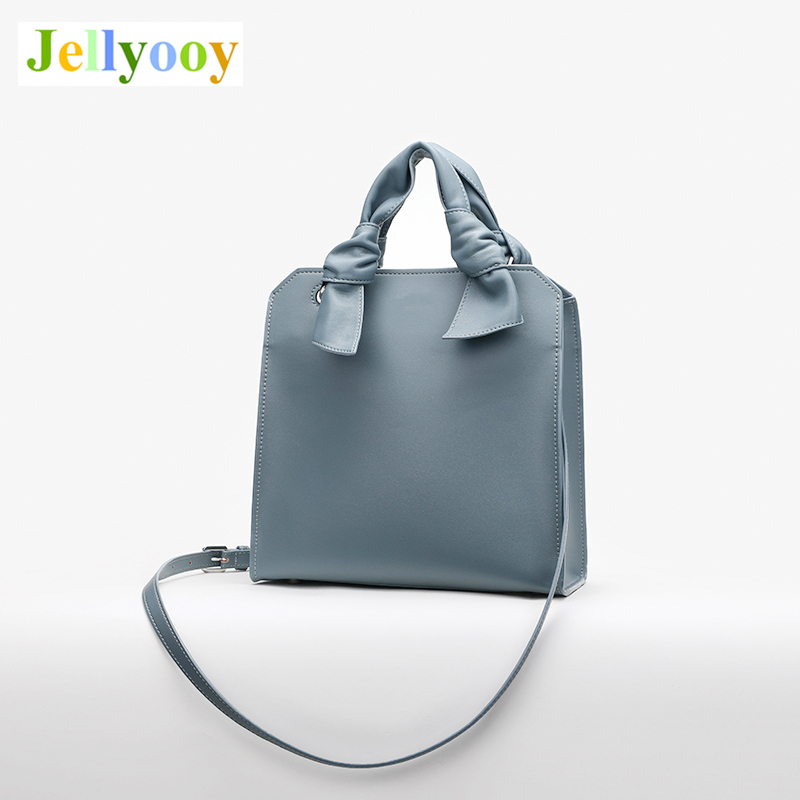 Singapore's Popular Tide Brand Women Leather Tote Bags Simple Solid Color Handbags Girl Shopping Shoulder Bags Sac A Main CK2 99