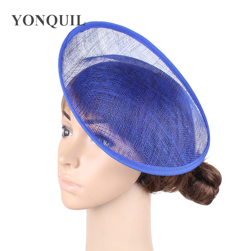 Royal blue 25CM SINAMAY fascinator base for making derby fascinators kentucky party hat Millinery material or