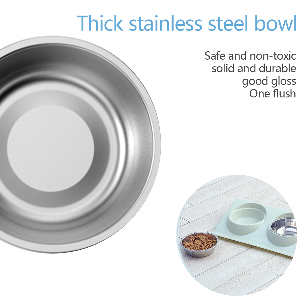 Thicken Pet Food Bowl Stainless Steel Double Pet Bowls Food Water Feeder for Dog Puppy Cats Pets Supplies Feeding Dishes 9