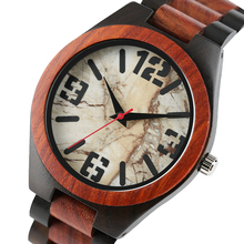 YISUYA Fashion Full Wooden Fold Clasp Bamboo Wristwatch Nature Wood Analog Quartz Women Creative Watches Men Bangle Relogio Gift