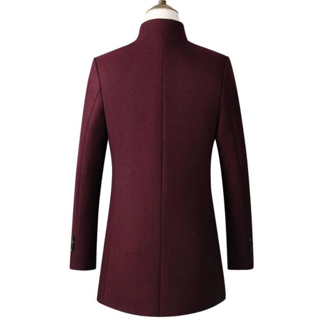 Fashon Men Wool Jacket Men's Casual Wool Coat Slim collar wool coat Men's long cotton collar trench coats dropshipping Z 902