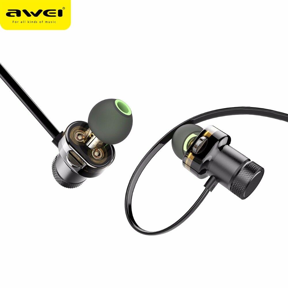 AWEI más T13 auricular inalámbrico de banda para el cuello de Auriculares auricular para teléfono Casque Auriculares Kulakl k Fone de ouvido