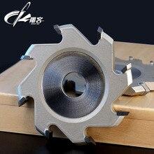 1 шт. слот резак для деревообработки алюминиевая пластина для шпинделя машины 90Deg V стиль толщина 8/12 флейты