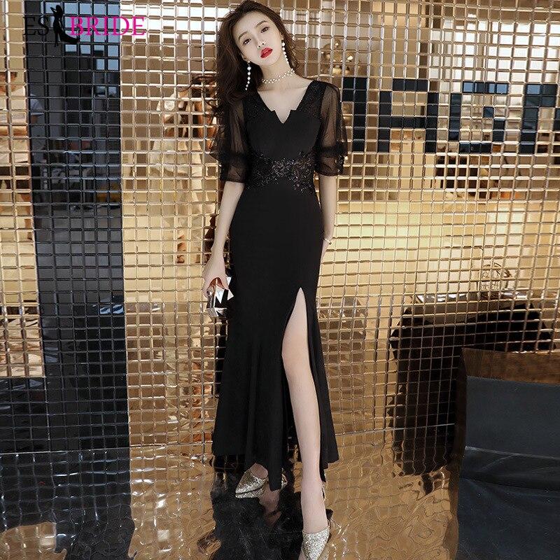 Black Sexy   Evening     Dress   Party Princess   Evening   Gowns for Women Elegant Formal   Dress     Evening     Dress   Muslim   Evening     Dress   ES2458